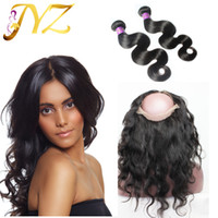 Hair bundles with 360 lace frontal Malaysian virgin hair bod...
