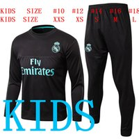 2017 2018 real madrid kids soccer training suits Uniforms JA...