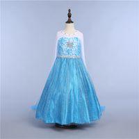Mädchen-Schneekönigin-Prinzessin Dress-up Cosplay Kostüm-Verfassungs-Partei-Prinzessin Rapunzel Lace Dress 10 Art DHL Ship PX-D05