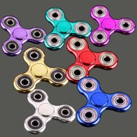 2017 Metallic Color Plated EDC Fidget Spinners Ruota la mano Spinner Decompression Toys Black Gold Finger Toy Giocattolo Divertente OTH378