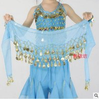 Baby Belly Dance Costume Dancing 3 Rows Hip Skirt Scarf Wrap...
