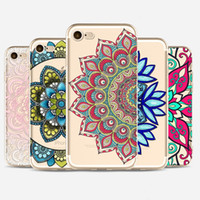 Henna White Floral Paisley Flower Mandala Soft TPU painted P...