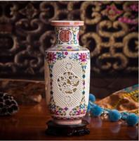 Moderne chinesische Stil Keramik Vase Mang Formen Caramic Tabletop Vase für Home Hotel Office Club Bar Decor 3 Farben Wahl
