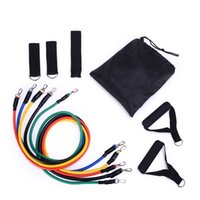 Fitness Equipments Workout Resistance Bands Latex 11pcs set ...