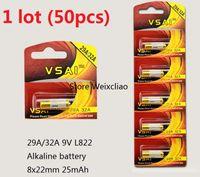 50 قطع 1 وحدة 32a 29a 9 فولت 32A9V 9V32A 29A9V 9V29A L822 بطارية قلوية جافة 9 فولت بطاريات بطاقة vsai مجانية