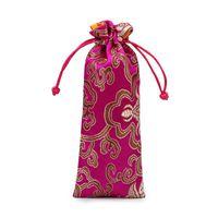 إطالة محظوظ زهرة الحرير الديباج الحقيبة جودة عالية الرباط السفر المجوهرات قلادة هدية كيس التغليف مشط حلية التخزين الجيب