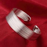 Оптовая торговля-розничная низкая цена Рождественский подарок, бесплатная доставка, новый 925 серебряный браслет моды B023
