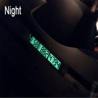 100pcs / lot Creative Night Light Sucker Plaque Voiture Numéro de téléphone Carte Carte de stationnement de voiture temporaire