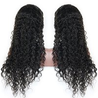 Brazilian Virgin Human Hair Wig Lace front Black Color Pre Plucked Natural hairline Bleach Knot Curly