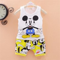 Wholesale- 2016 new baby boys girls Clothes set Kid Minnie V...