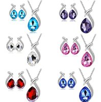 Earrings & Necklace High quality austrian crystal jewelry se...