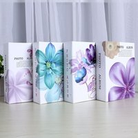 4D 6 inch Vintage Flower Pattern Photo Album Book 100 Page P...