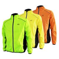Toptan-Tour de France Koşu Ceket Erkekler Spor Bisiklet Bisiklet Jersey Uzun Kollu Ceket Nefes Yansıtıcı Rüzgar Yağmur Ceket Rüzgar Geçirmez
