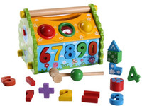Learn Shapes with Wooden House Toy - Colors and Shapes Educa...