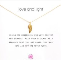 With card! Cute Necklace with Wing pendant (love and light),...