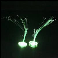Factory direct light-emitting optical fiber pigtails LED lights flash hairpin hairpin headdress wig wholesale