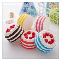 Jumbo Squishies Strawberry Cake Squishy Phone Charms Cake Sq...