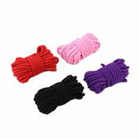 10M Erwachsene BDSM Sex Toys Seil provokative Alternative liefert Baumwolle gebunden Seil Fetisch Sex Fessel Bondage schwarz rosa rot lila 3105004