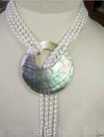 Pendentif en forme de perle de culture blanche Akoya de 6-7 mm