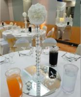 Acrylkristall-Säulen-Kerzenhalter-Set mit Acrylic Kristall Dimond-Dekoration für Hochzeitstisch