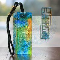DIY exquisite benutzerdefinierte farbige Glasur-Dichtung Wachs-Dichtungsstempel für Hochzeits-Einladung Retro-Antike-Stempel-Wachs-Stempel mit Namen und Datum