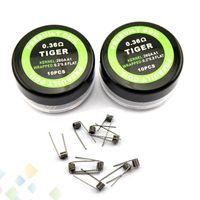 Vaporizzatore Tiger Coil venduto da PC Resistance 0.36ohm 26GA + 0.2 * 0.8 Cavo di resistenza filo Tiger sigaretta elettronica di alta qualità DHL libero