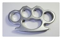 ARIVAL Silver THICK STEEL BRASS KNUCKLES DUSTER BUCKLE Brass...
