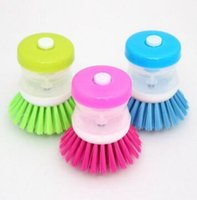 Hydraulic pressure liquid washing pot cleaning brush pot for...