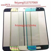 100 PZ TOP Un pannello Touch Screen di qualità Sostituzioni Per Samsung Galaxy s6 g920 g920f Touch Screen Frontale Esterno Lenti In Vetro