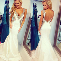 2017 Custom made Colorful Sequins V- neck Wedding Dresses She...