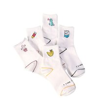Women' s sock Milk Banana Dinosaur Pencil Rocket Cartoon...