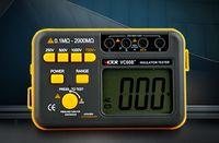VC60B + LCD 디지털 절연 저항 테스터 메가 메그 오옴 미터 테스터 저항 측정