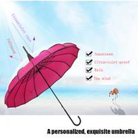 مظلات من معبد باغودا يندبروف حماية للأشعة فوق البنفسجية قابلة للطي مقبض طويل رائعة وجميلة مظلة مستقيم المحمولة في الهواء الطلق