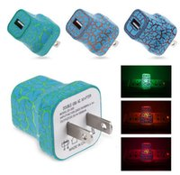 LED light 1A Wall Charger Plug Power Adapter Home Travel Wal...