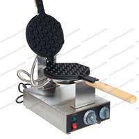 Med CE-certifiering 220V 110V Hongkong Egg Waffle Makers Machine Egg Puffs Maker Bubble Waffle Köp maskin Gratis Få 6 Fler presenter Myy