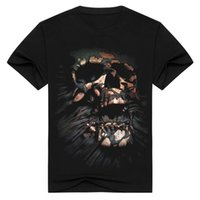 2017 할로윈 패션 streetwear 죽음의 해골 남성의 3D 티셔츠 검은 해골 짧은 소매 옷 티셔츠 o 넥 남자 tshirt BMTX13 F