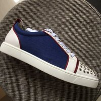 New men women sliver spikes toe with denim and white leather...
