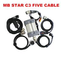 Suporte a melhor qualidade MB Estrela C3 todos os módulos profissionais para Mercedes-Benz ferramenta de diagnóstico All New Relé vermelha sem HDD