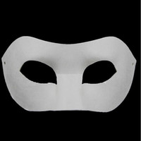 Drawing Board Solid White DIY Zorro Paper Mask Blank Match m...