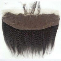 Mongolian Kinky Straight Lace Frontal Closure Free Middle Or...