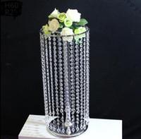 50CM hohe Hochzeit Acryl Kristall Tischdekoration Blume Stand Tabelle Dekor Hochzeit Requisiten 10 teile / los