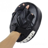 Bolsas Sanda marcial Muay Thai Kick Kit Negro entrenamiento de karate Mitt Focus Pads sacador de los guantes de boxeo Combate Defensa de destino al por mayor