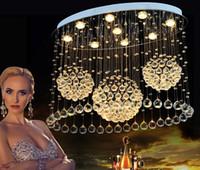 الحديثة أضواء LED سقف غرفة المعيشة الفن كريستال سيلينج مصابيح مستطيلة البيضاوي تناول الطعام نوم غرفة Lighs تركيبات الفوانيس LLFA