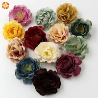 Wholesale- 10PCS High Quality DIY Artificial Silk Flower Hea...
