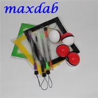 Silicone Wax Kit Set avec 14 * 11.5cm feuilles carrées tapis tapis pokeball récipient de silicone ruban outil de dabber pour pots d'herbe sèche dab