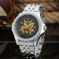 New Big dial Military full Steel Brand Automatic The hollow ...