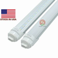 Spedizione gratuita 25pcs / lot 8Ft LED Tube Super Bright 45W 5000Lm R17d 8Ft T8 LED 8 piedi Pure White lampadine 5000K-5300K