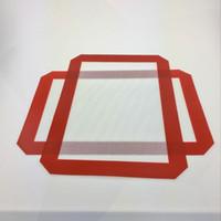 왁스 30CM x 21CM 실리콘 베이킹 매트 용 빨간색 비 점착성 실리콘 매트 Dab 오일 베이킹 드라이 허브 패드