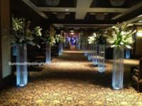 4 options) colonnes de mariage en cristal / mandap / piliers à vendre, colonne en cristal de décoration moderne en cristal, pilier romain