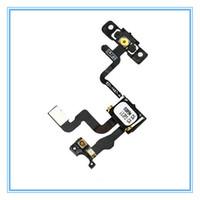 Botón de encendido del sensor de luz de proximidad con cinta del cable de la flexión del auricular para el iphone 4 4G 4S Piezas de repuesto